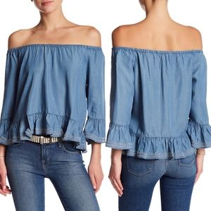 W118 By Walter Baker Torrence Off the Shoulder Top